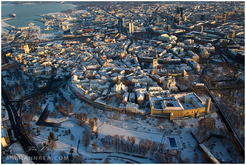 The old town of Tallinn from above